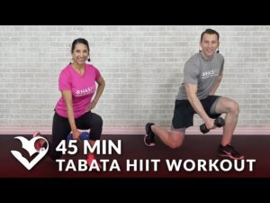 45 Min Tabata HIIT Workouts for Weight Loss & Strength – Full Body Workout at Home with Weights