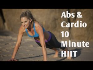 Cardio and Abs 10 Minute HIIT Workout for Fat Blasting and Core Toning